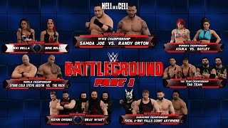 wwe2k Universe Mode I The Reality Era (Battleground 2 PPV) Part 1