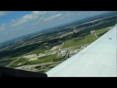 DFW HD Continental Express ERJ-145 Take-Off Dallas Fort Worth International Airport Cowboys Stadium