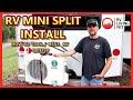 Installing Mini Split Air Conditioner In RV Camper-Installing Mini-Split Heat Pump In RV- RVAC Solar
