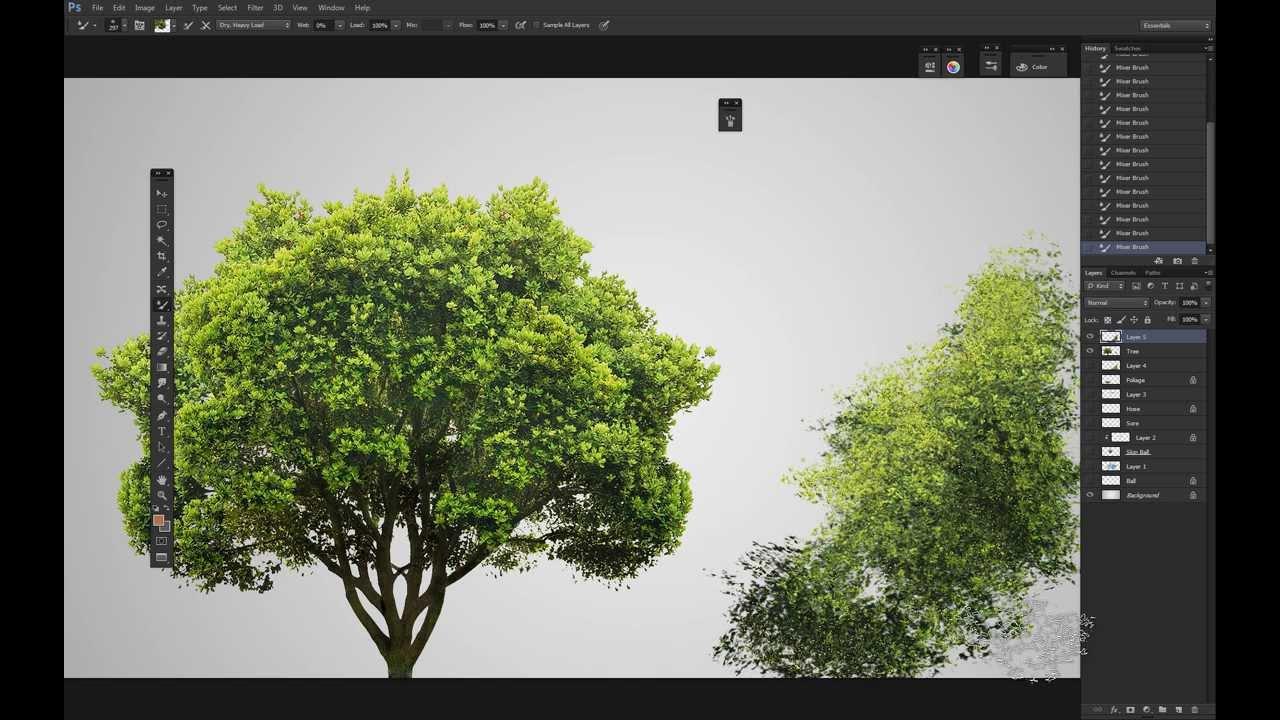 Tree Painting Basic Black