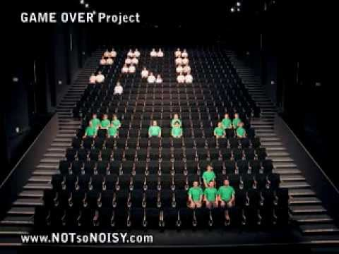 The Original Human SPACE INVADERS Performance