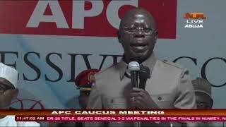APC National Chairman, Adams Oshiomole's Welcome address at the APC Caucus Meeting