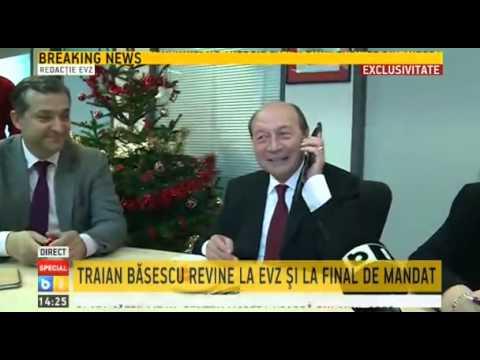 Traian Basescu in redactia Evenimentul Zilei