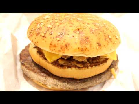 Eating Mcdonalds Big American Burger