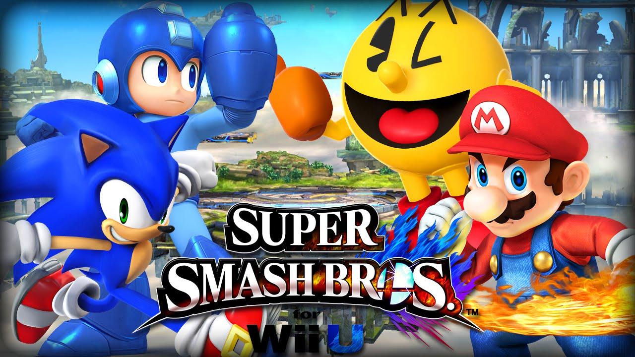 Mario Vs Sonic Vs Megaman Vs Pacman SSBU: Mario Vs Megaman...