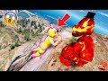 CAN LAVA FREDDY SAVE TOY CHICA FROM THE BIGGEST CLIFF FALL? (GTA 5 Mods For Kids FNAF RedHatter)