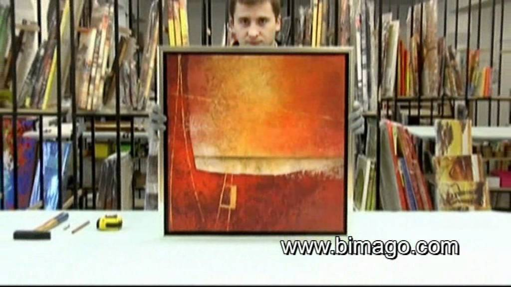 hooks how to hang a painting on the wall youtube. Black Bedroom Furniture Sets. Home Design Ideas