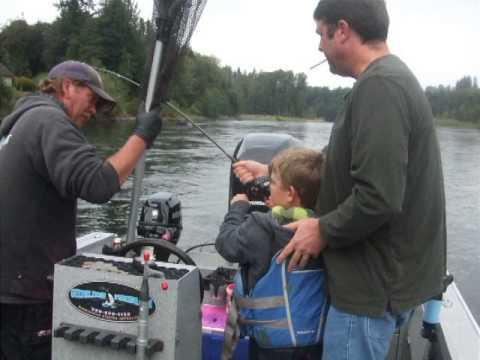 A boy's first fish. 2014 Cowlitz River