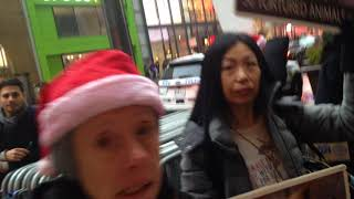 Macys NYC Fur Protest Video