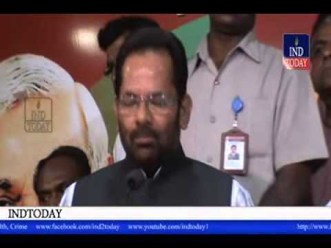Congress practices divisive secularism: Mukhtar Abbas Naqvi