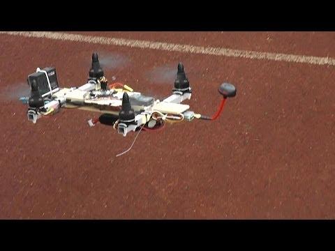 Scratch Built FPV Quadcopter Maiden FPV Flight
