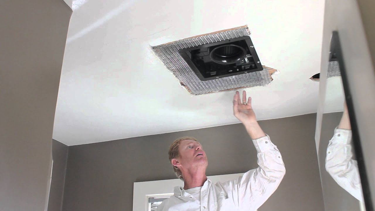 Bathroom exhaust fan cover replacement