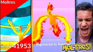FIRST *LEGENDARY MOLTRES* RAID IN POKÉMON GO! WE CAUGHT OUR MOLTRES OMG IT'S LIT!