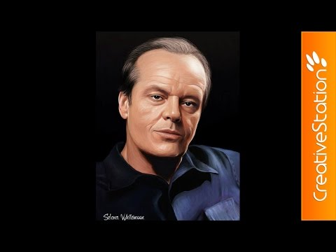 Jack Nicholson - Speed Painting (#Photoshop) | CreativeStation