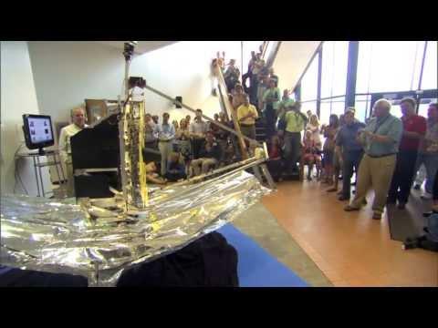 NASA   California Polytechnic Institute Students bring JWST Model to NASA GSFC
