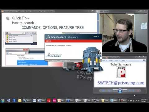 Toby's Tech Talk Episode 28 - March 5, 2014 - Sheet Metal, Search commands