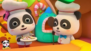 Baby Panda Makes Yummy Pizzas | Cooking in Kitchen | Kids Role Play | BabyBus