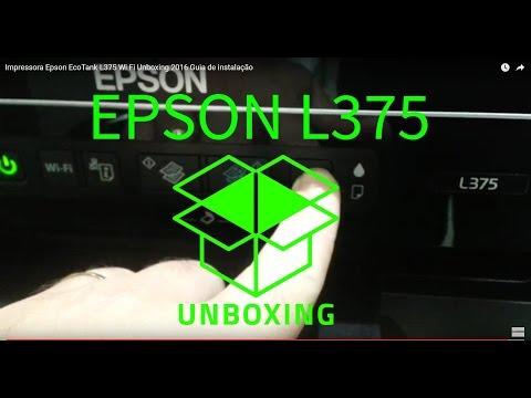 Impressora Epson EcoTank L375 Wi Fi Unboxing 2016 Guia de instalação review PARTE 1