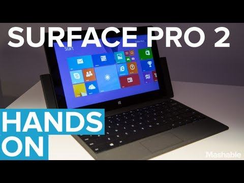 Surface Pro 2: Microsoft's Newest Tablet PC // Hands On