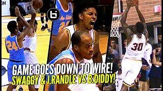 Nick Young & Julius Randle vs Baron Davis at The Drew! Ankles Get Broken & Rim Gets Punished!
