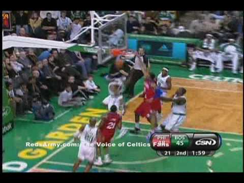 Rondo to Pierce fast break dunk