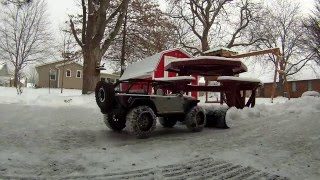Axial SCX10 Snow Plowing