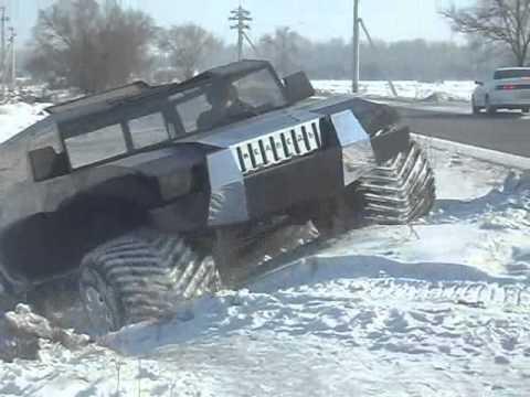 новый вездеход МЕДВЕДЬ-2 зима.wmv