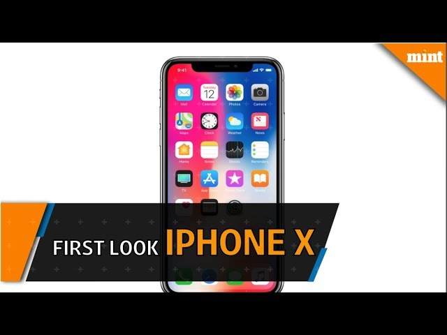 First look: Apple iPhone X