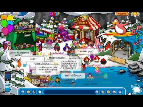 Club Penguin - OMG FIRST TIME meeting FAMOUS penguin! (Rockhopper!)
