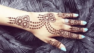 Pretty Henna Design - Jewelery Inspired Mehendi Tattoo - Simple and Easy Mehndi Pattern