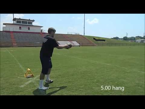 David Strickland Punter Workout with Coach Jackson - Team Jackson Kicking