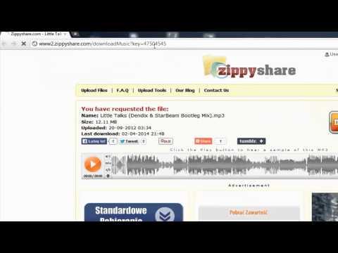 Jak szybciej/w mniejszych rozmiarach pobierać piosenki z zippyshare