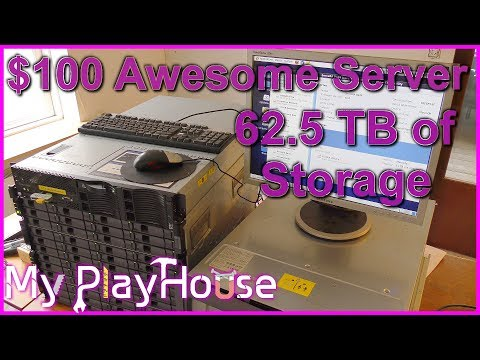 62.5 TERABYTES of External Storage on $100 Awesome Server - 555