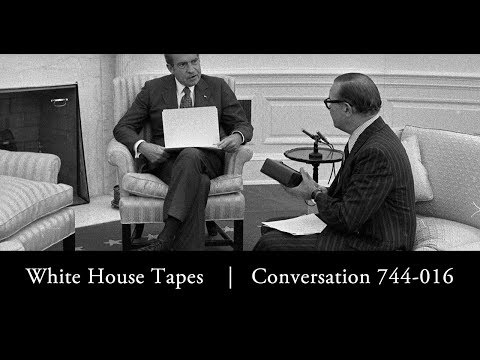 On June 30, 1972, journalist Clifford Evans interviewed President Richard Nixon in the White House for RKO General Broadcasting. This meeting was captured by recording devices in the Oval...