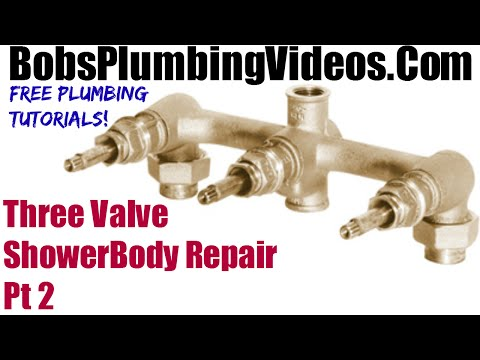 Three Valve Shower Body Repair - Part 2