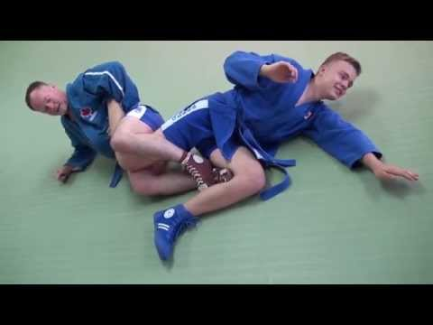Sambo leg lock - Achilles compression - Instructional Image 1