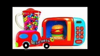 Learn Robocar Poli car toys and Tayo bus - Poli village play set and Colors Learning