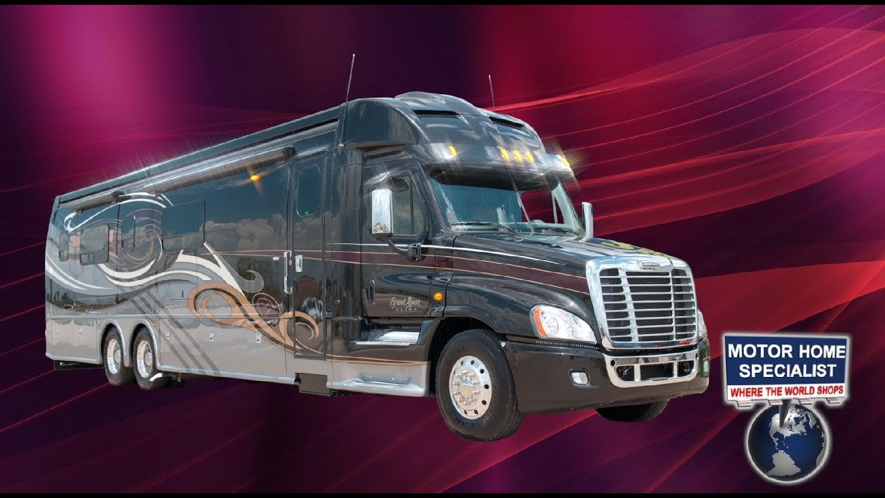 2014 Dynamax Grand Sport Ultra Luxury Super C Diesel at MHSRV.com - YouTube