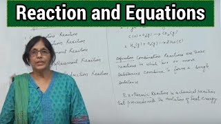 Reaction and Equations (Type of Chemical Reactions)