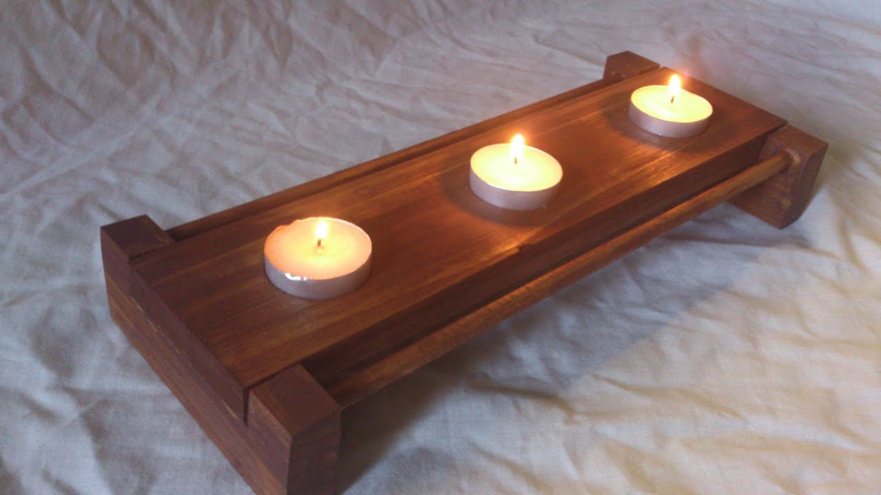 Building a candle holder from scrap wood youtube - Scrap wood decorated house ...
