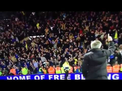 Mourinho Shows Chelsea Fans He is #1 After Game vs. WBA