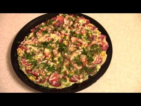 Кабачковая пицца за 20 минут! Быстрая закуска!