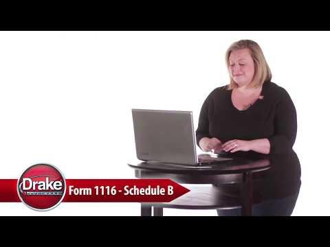 1116 / Schedule B