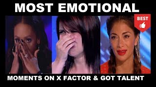 Top 10 *BEST EMOTIONAL MOMENTS* on X Factor and Got Talent EVER!
