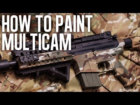 How to Spray Paint MultiCam LEGIT!