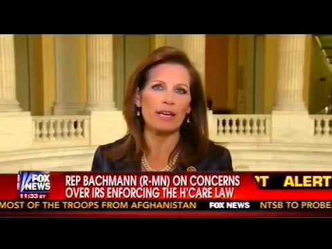 Michele Bachmann on 'DeathLike' IRS With Eric Bolling: Your 'Life And Death' May Be In Their Hands