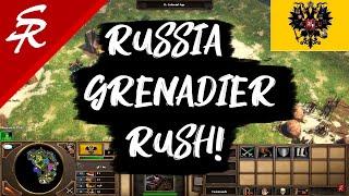 Russia Grenadier Rush! Age of Empires III