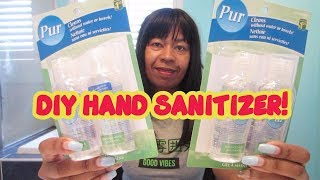How to make your own DIY HAND SANITIZER - CORONAVIRUS COVID-19 OUTBREAK.
