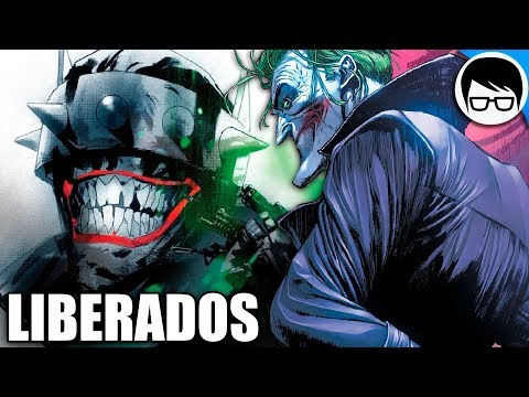 EL BATMAN QUE RIE Y EL JOKER LIBERADOS   Justice League #13