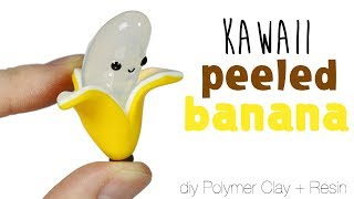 How to DIY Cute/Kawaii Banana Polymer Clay/Resin Tutorial